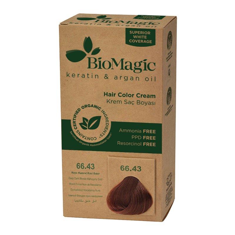 Keratin Argan Oil Deep Dark Blonde Mahogany Gold Hair Colour Cream